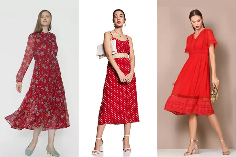 stunning red dresses for winter season
