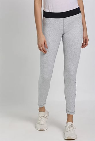 Tommy Hilfiger Solid Grey Jeggings
