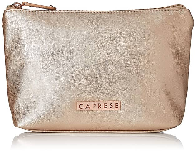 caprese norma rose gold cosmetic bag