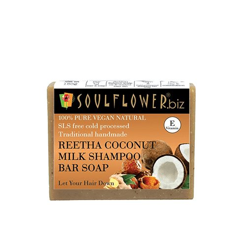 soulflower reetha coconut milk shampoo bar