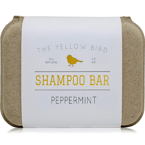 yellow bird shampoo bar